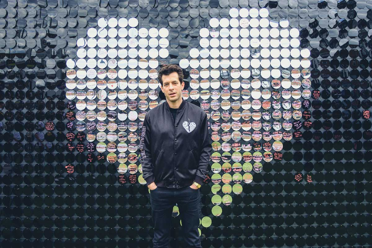 Our mirrored heart installation for Mark Ronson