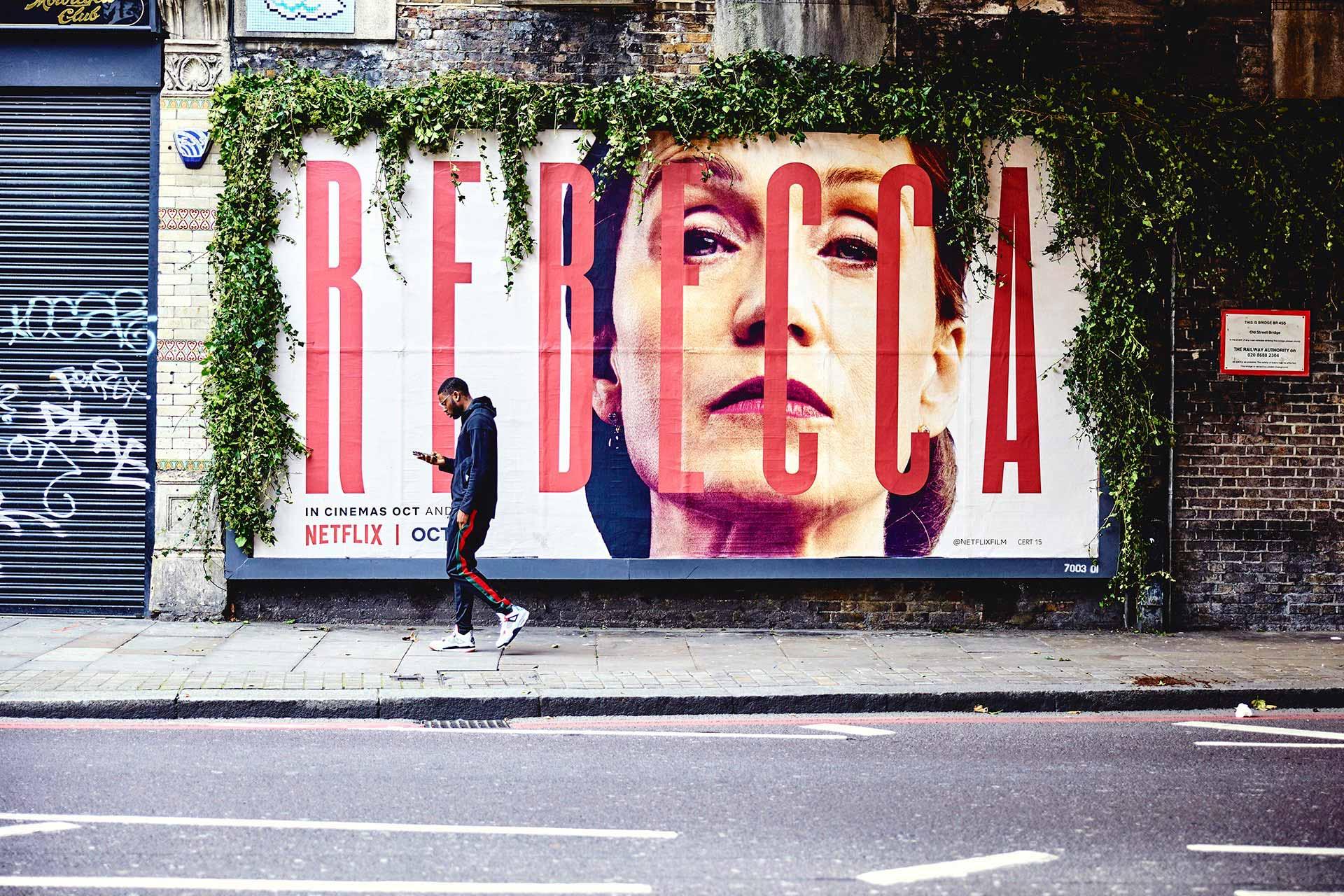 Rebecca - Netflix - Creative billboard - JACK