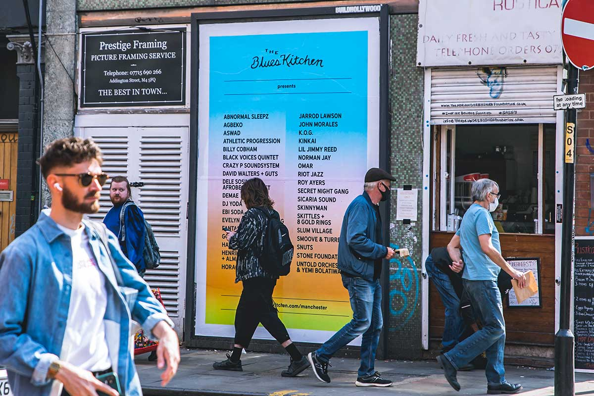 The Blues Kitchen: Manchester - Street posters - JACK ARTS