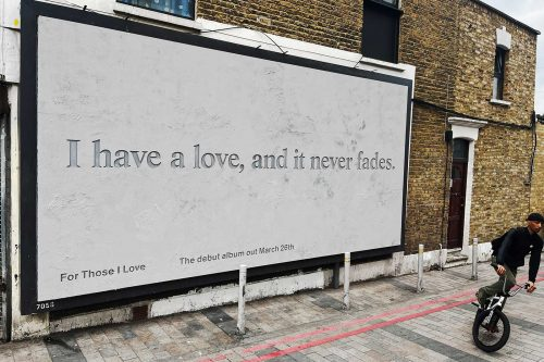 For those I love: Debut album - Creative billboards - DIABOLICAL