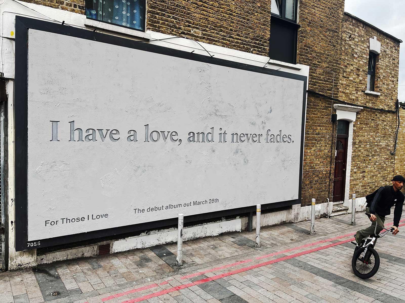 For those I love: Debut album - Creative billboards - DIABOLICAL
